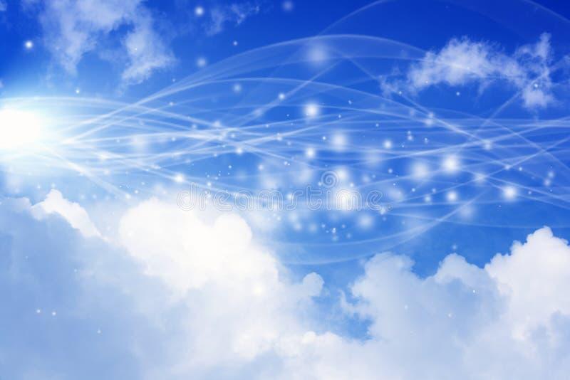 Abstracte achtergrond met hemel royalty-vrije illustratie