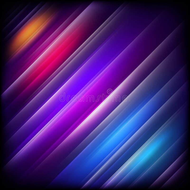 Abstracte achtergrond met het kleurrijke glanzen Eps 10 royalty-vrije illustratie