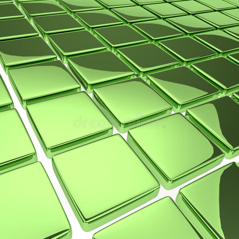 Abstracte achtergrond met het wijzen van op groene vierkanten stock illustratie