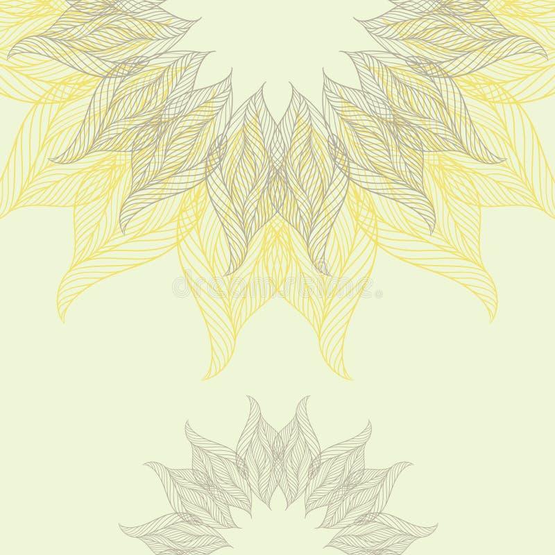 Abstracte achtergrond met kanten bloem stock illustratie