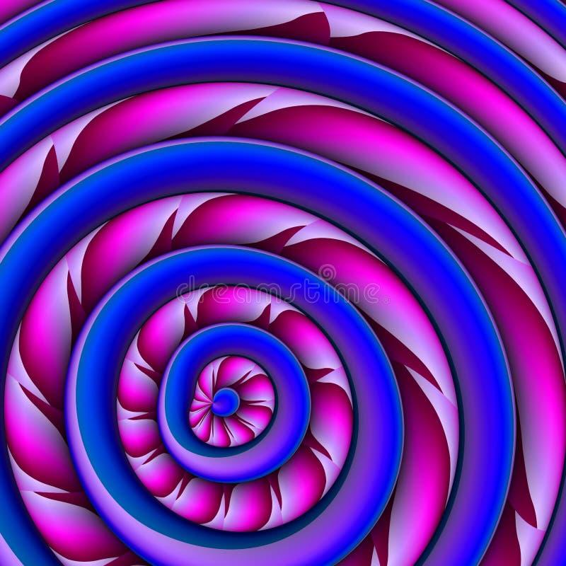 Abstracte achtergrond met kleuren concetric plastic wielen stock illustratie