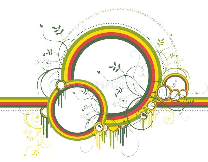 Abstracte achtergrond met kleurenvormen royalty-vrije illustratie