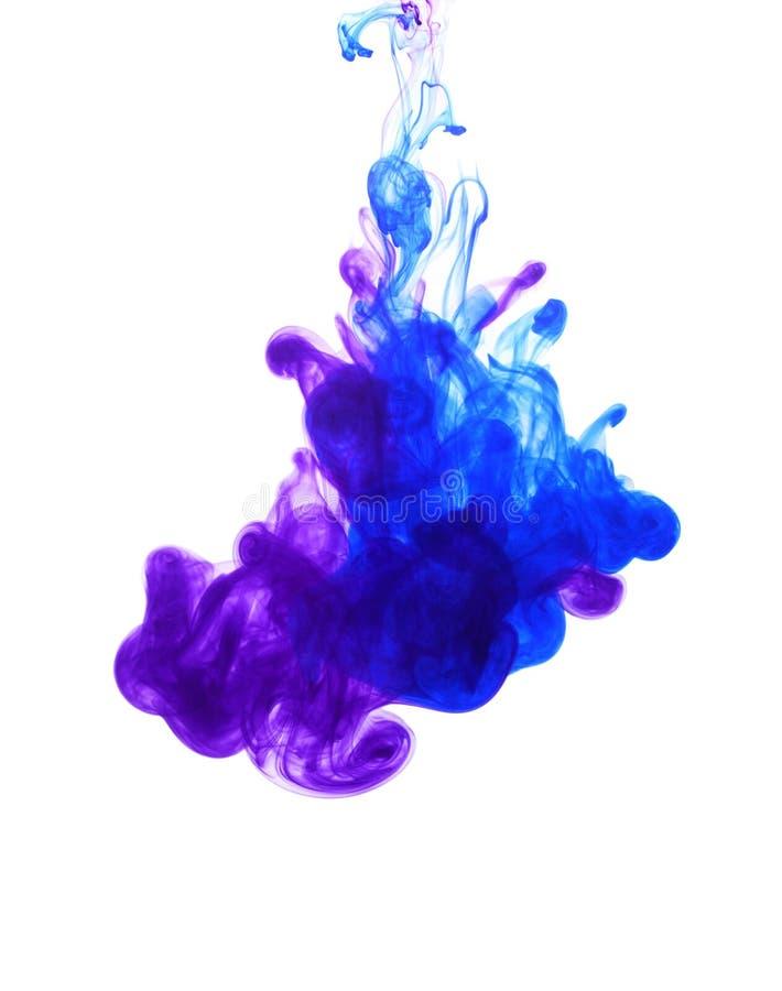 Abstracte achtergrond met kleurenwolk van inkt in water royalty-vrije stock fotografie
