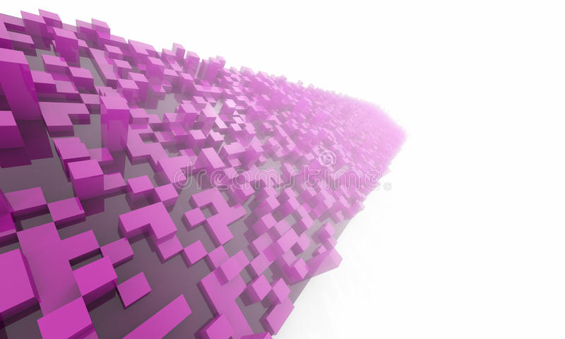 Abstracte achtergrond met kubussen stock illustratie