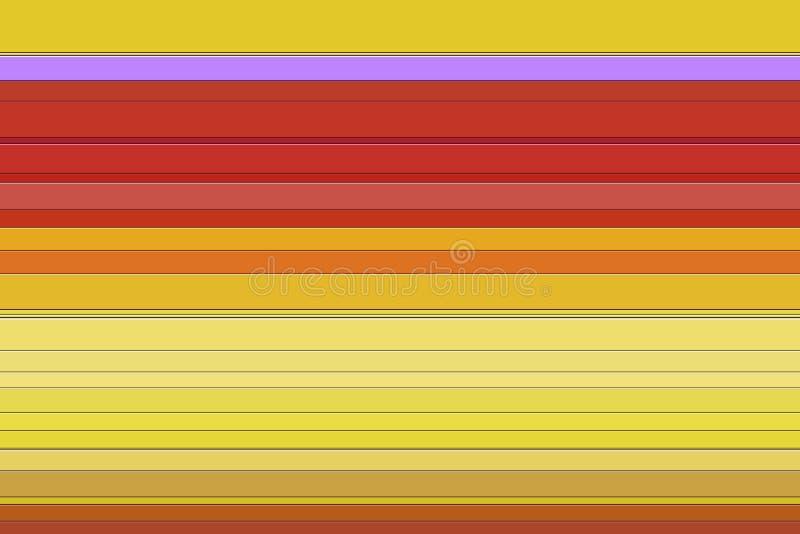 Abstracte achtergrond met lijnen in gele, roze, violette tinten royalty-vrije illustratie