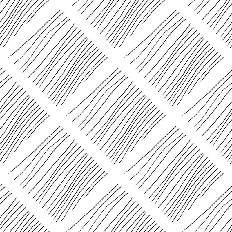 Abstracte achtergrond met lijnen Zwart-witte chaotische lijnen stock illustratie