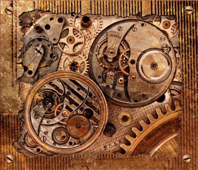 Abstracte achtergrond met mechanisme stock fotografie