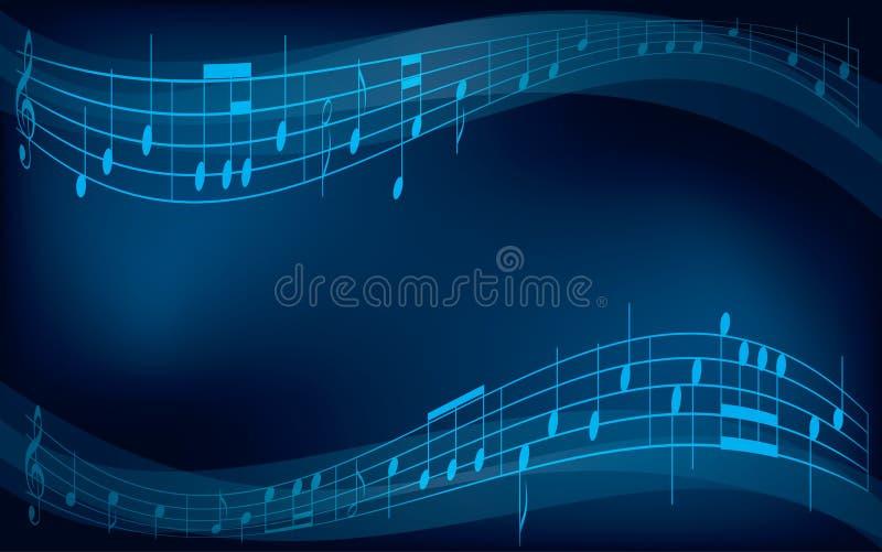 Abstracte achtergrond met muzieknoten stock illustratie