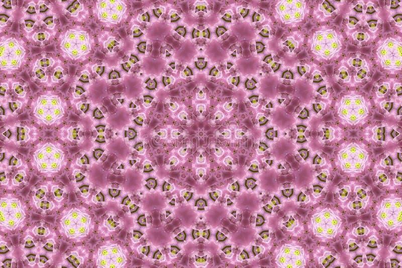 Abstracte achtergrond met natuurlijke bloemen vector illustratie