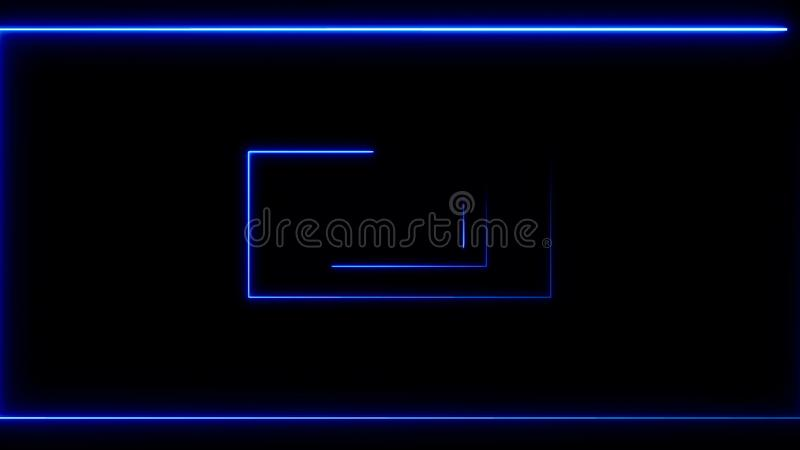 Abstracte achtergrond met neonrechthoeken vector illustratie