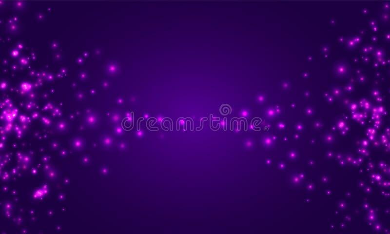 Abstracte achtergrond, met onduidelijk beeldeffect Heel wat lichte punten vector illustratie