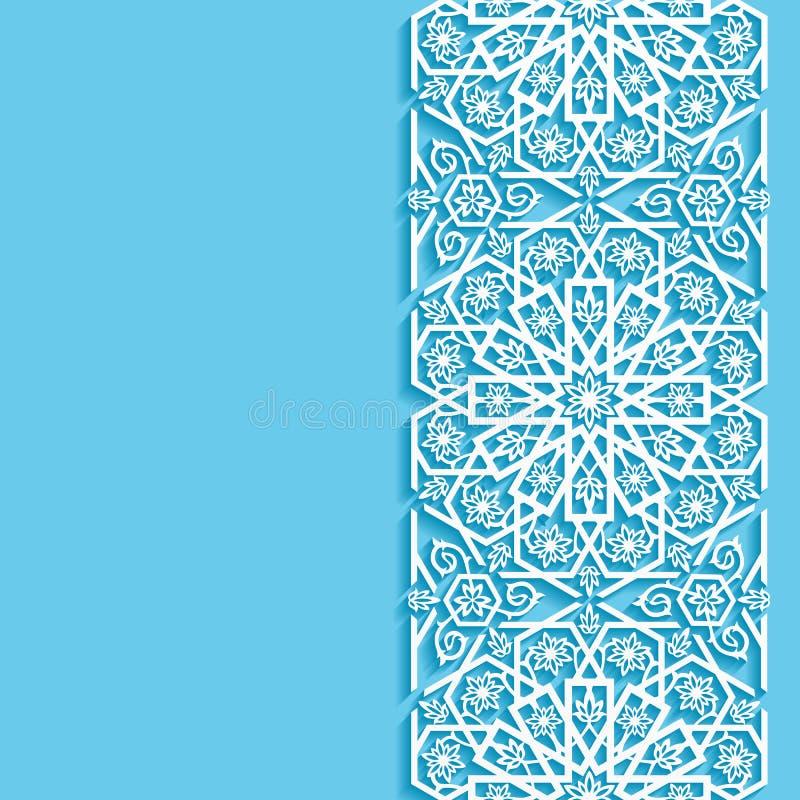 Abstracte achtergrond met oostelijk bloemenpatroon royalty-vrije illustratie