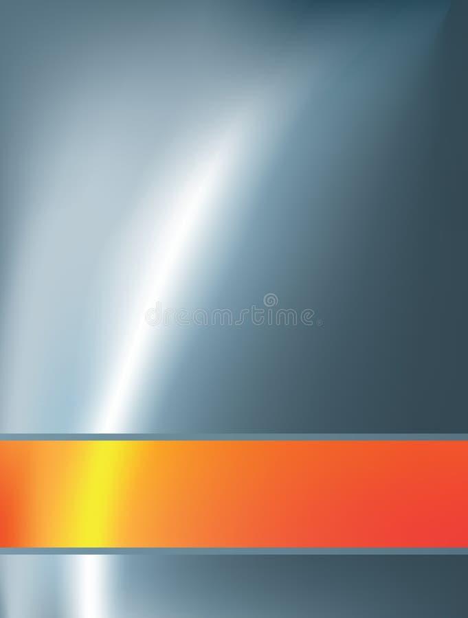 Abstracte achtergrond met oranje staaf vector illustratie