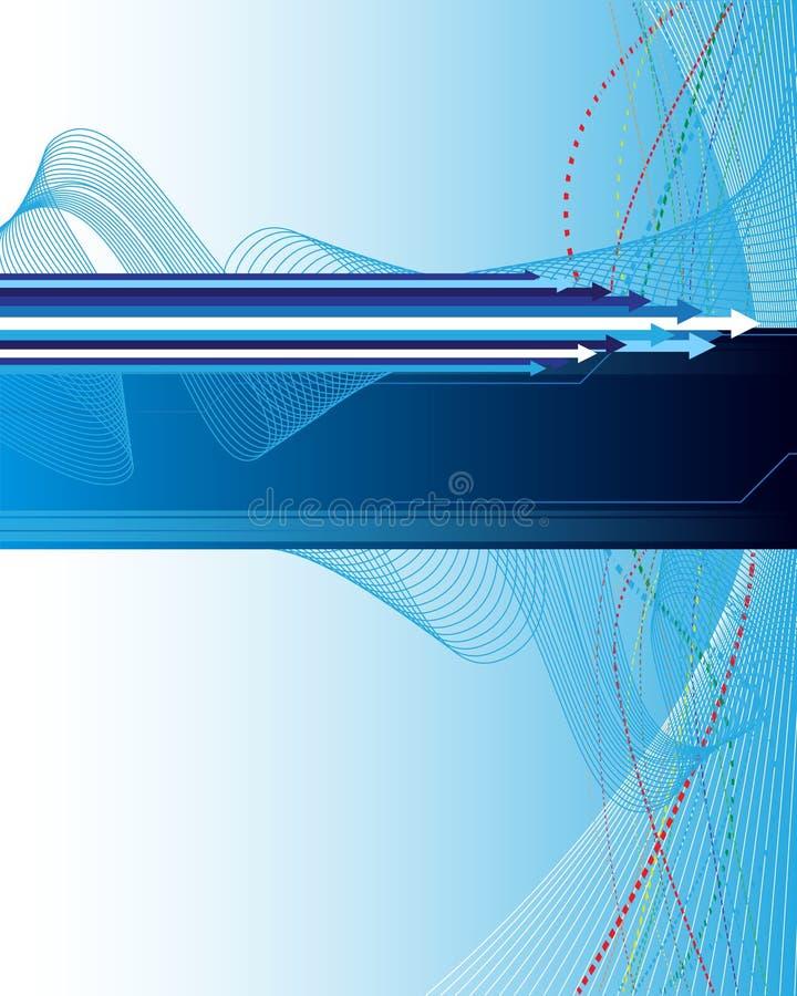 Abstracte achtergrond met pijlen stock illustratie