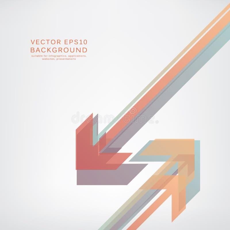 Abstracte achtergrond met pijlen Eps10 Vector stock illustratie