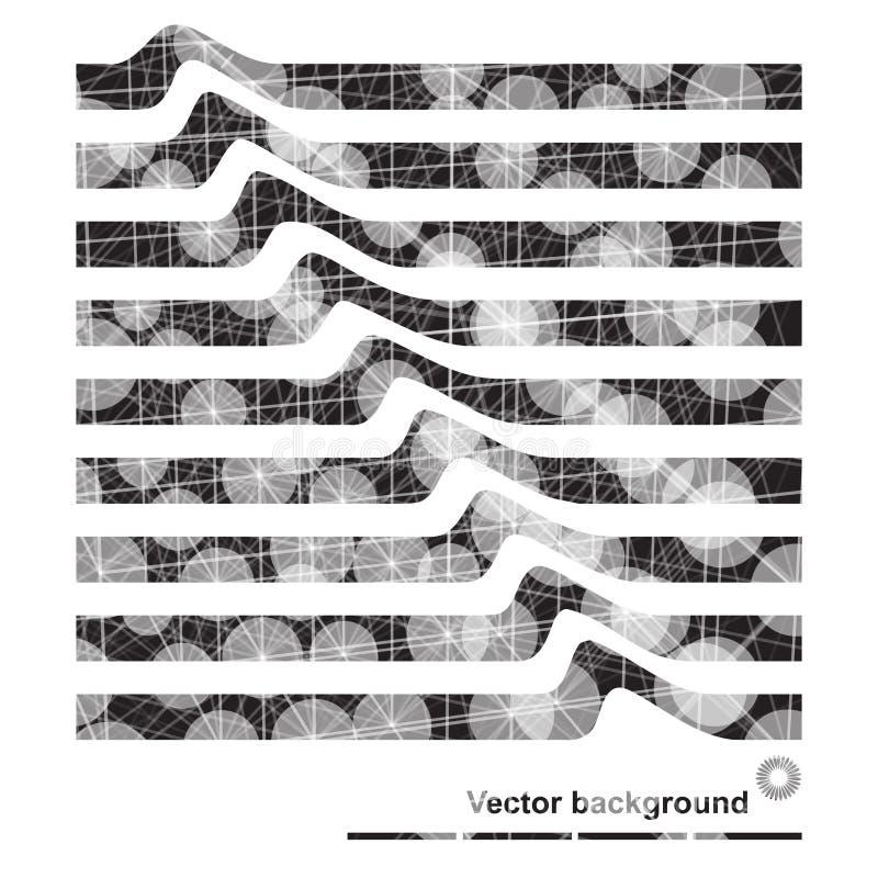 Abstracte achtergrond met punten en lijnen op digitaal thema vector illustratie