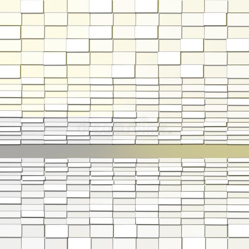 Abstracte Achtergrond met Rechthoek Lichte Blokken stock illustratie