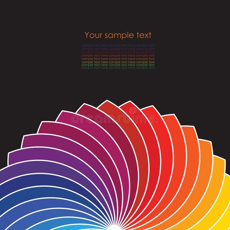 Abstracte achtergrond met spectrumwielen. stock illustratie