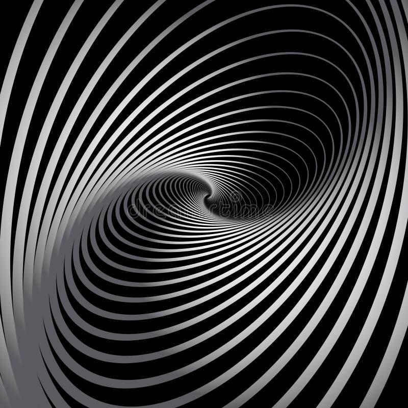 Abstracte achtergrond met spiraalvormige roesbeweging. royalty-vrije illustratie