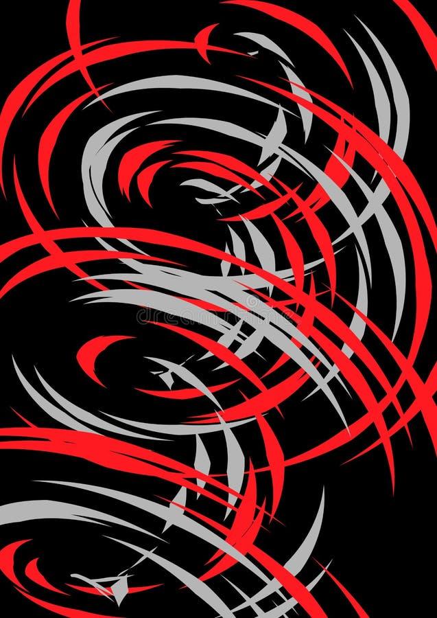 Abstracte achtergrond met spiraalvormige vormen royalty-vrije illustratie
