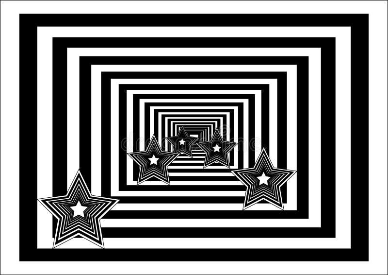 Abstracte achtergrond met sterren stock illustratie