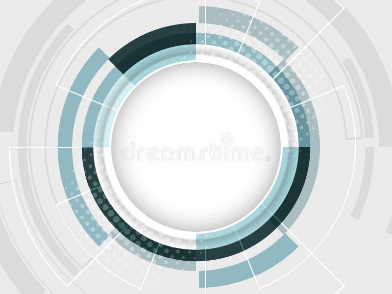 Abstracte achtergrond met streep voor uw tekst Vectorillustratie met cirkelpatroon stock illustratie