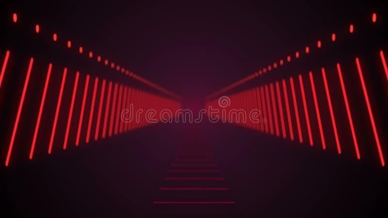 Abstracte achtergrond met technologietunnel stock illustratie