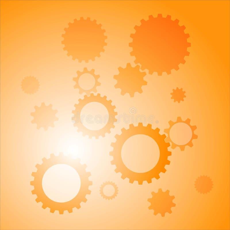 Abstracte achtergrond met toestellen oranje kleur vector illustratie