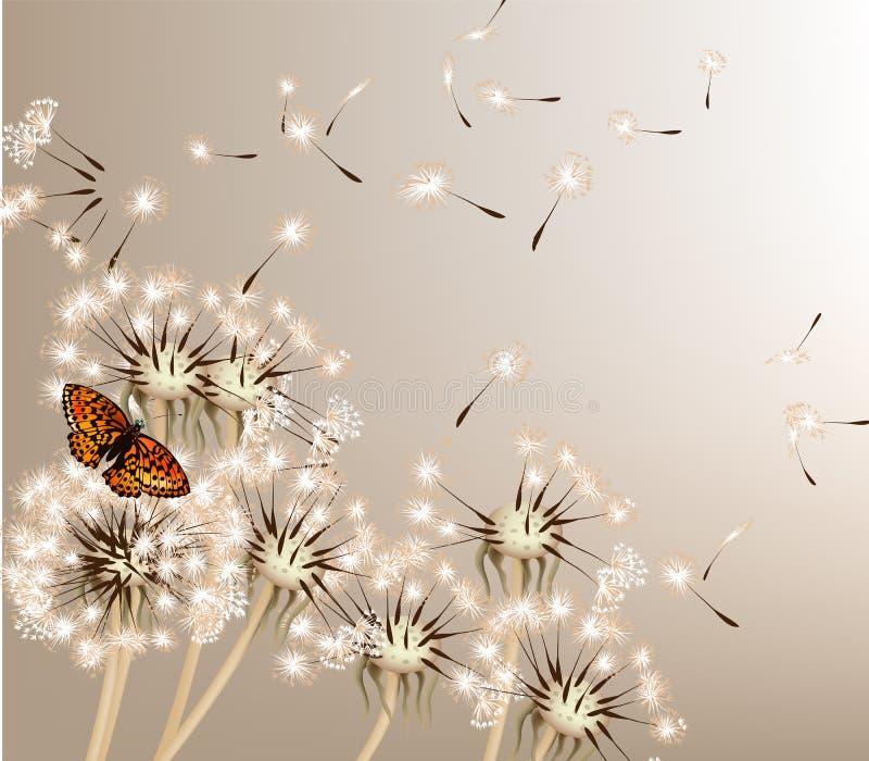 Abstracte achtergrond met vectorpaardebloemen vector illustratie