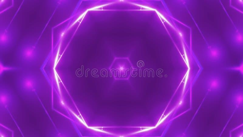 Abstracte achtergrond met VJ-Fractal caleidoscopisch viooltje 3d teruggevende digitale achtergrond royalty-vrije illustratie