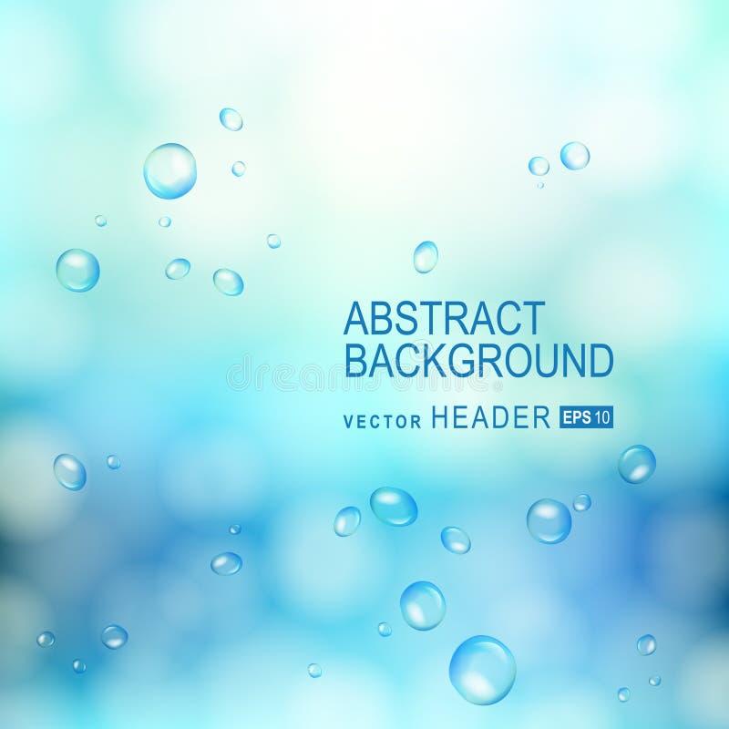 Abstracte achtergrond met waterdalingen op glas royalty-vrije illustratie