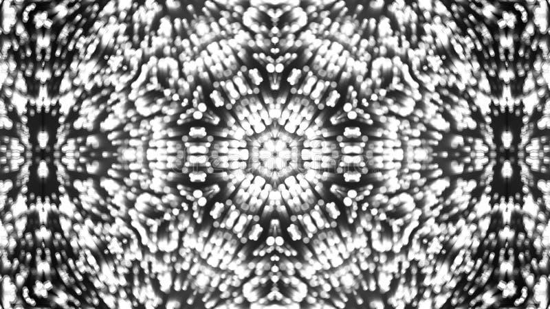 Abstracte achtergrond met zilveren caleidoscoop stock foto