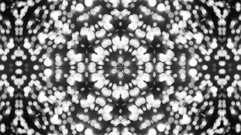 Abstracte achtergrond met zilveren caleidoscoop stock fotografie