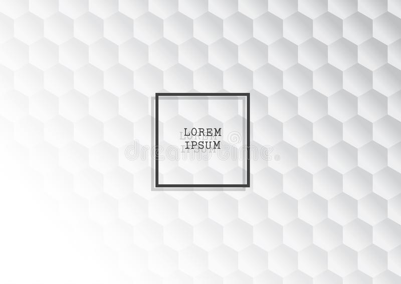 Abstracte achtergrond met zwart-wit hexagonaal patroon stock illustratie