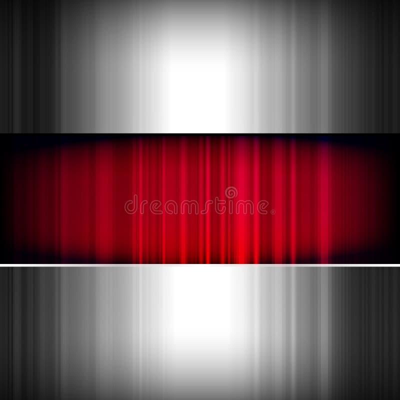 Abstracte achtergrond, metaal en rood. royalty-vrije illustratie