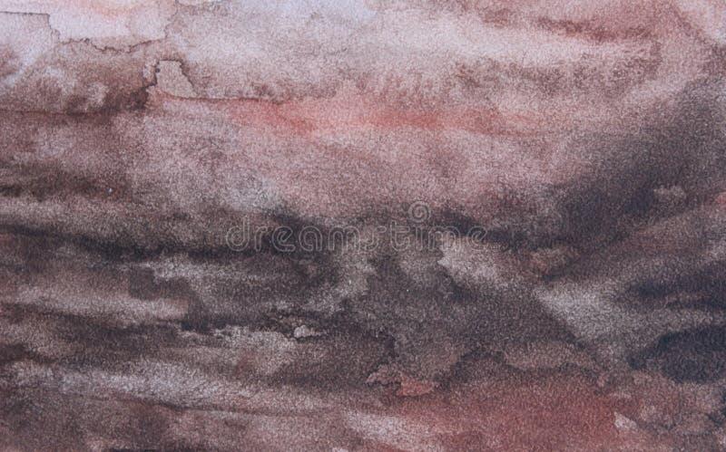 Abstracte achtergrond op een weefseloppervlakte in warme rode tonen stock illustratie