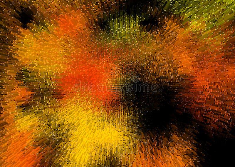 Abstracte achtergrond in oranje en zwarte kleur royalty-vrije illustratie