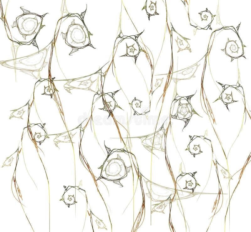 abstracte achtergrond oranje fractal bloem stock foto's
