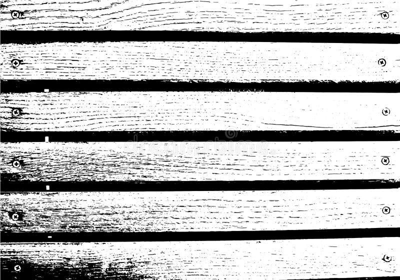 Abstracte achtergrond, oude houten muur, horizontale brede planken Vector houten textuur vector illustratie