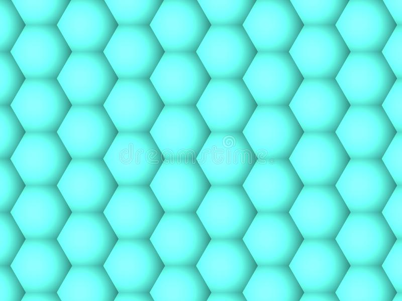 Abstracte achtergrond, patroon van gradiënt het geometrische groene zeshoeken stock illustratie