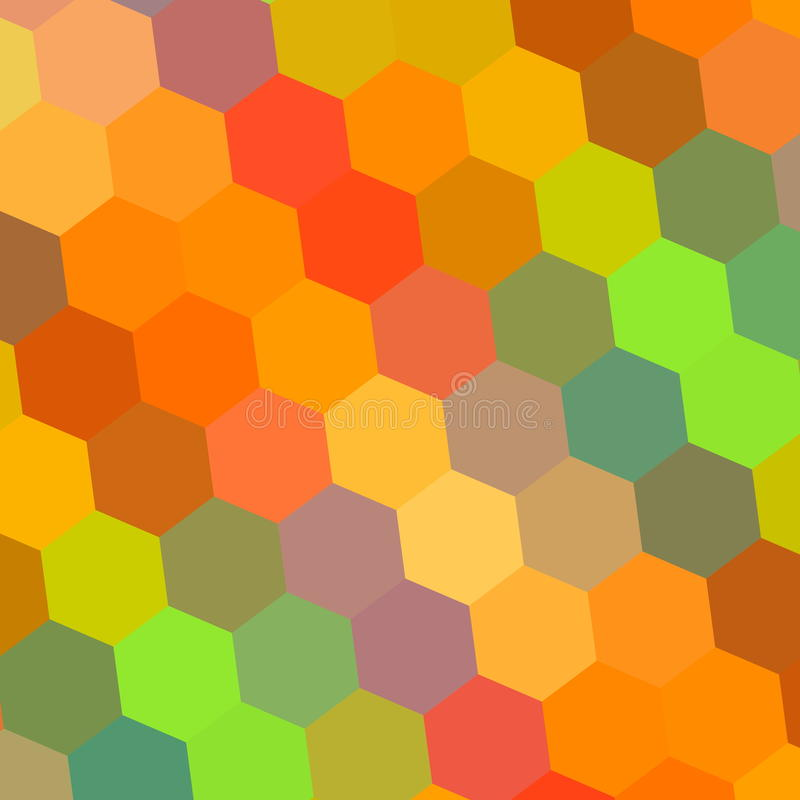 Abstracte achtergrond in regenboogkleuren Patroonelement voor Ontwerpillustratie Hexagon Mozaïek Mooi Kleurenart. Digitaal vector illustratie