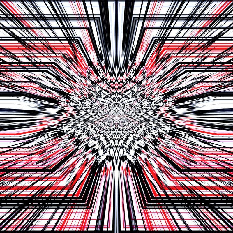 Abstracte achtergrond in rood, zwart-wit stock afbeelding