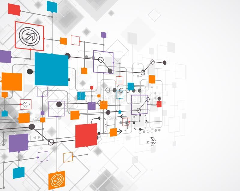Abstracte achtergrond, technologiethema voor uw zaken royalty-vrije illustratie