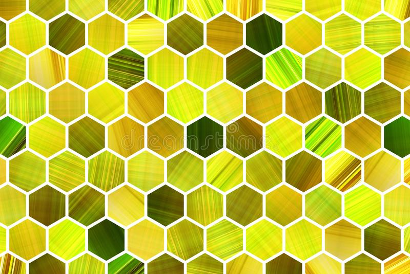 Abstracte achtergrond of textuur voor ontwerp, kleurrijke patroon hexagon strook stock illustratie