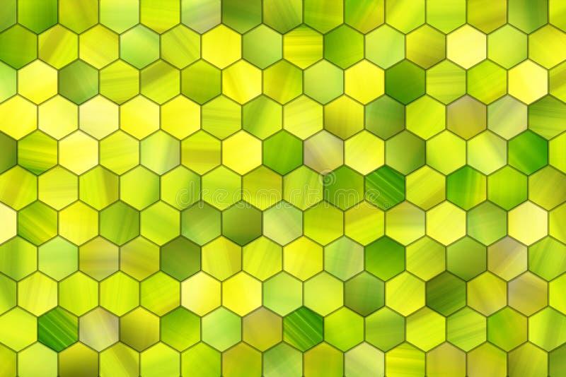 Abstracte achtergrond of textuur voor ontwerp, kleurrijke patroon hexagon strook royalty-vrije illustratie