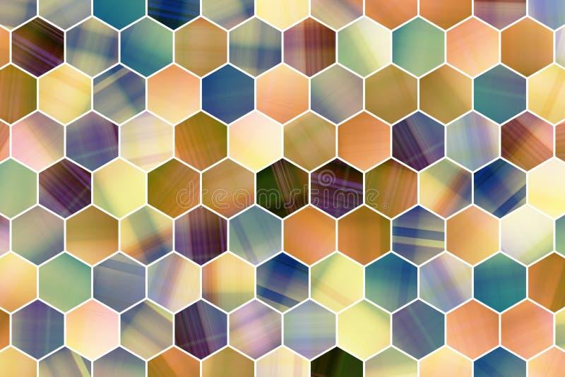 Abstracte achtergrond of textuur voor ontwerp, kleurrijke patroon hexagon strook vector illustratie