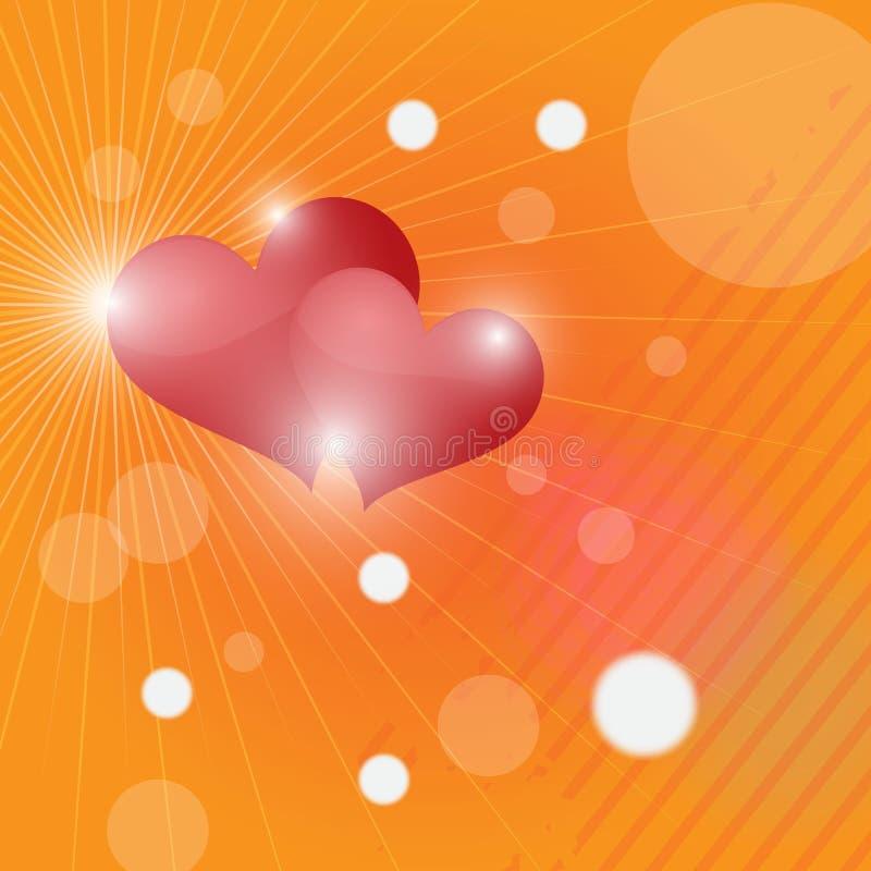 Abstracte achtergrond Twee harten royalty-vrije stock fotografie