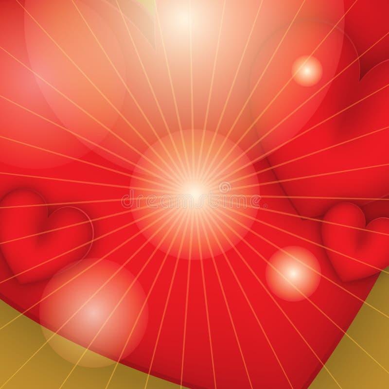 Abstracte achtergrond Twee hartenvector Eps 10 stock afbeeldingen