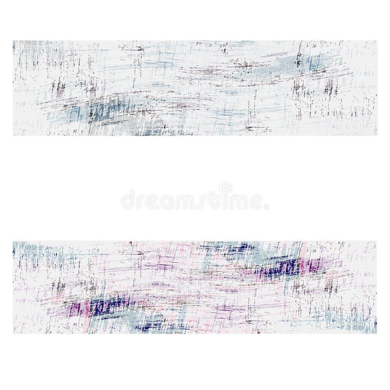 Abstracte achtergrond twee met krassen royalty-vrije illustratie
