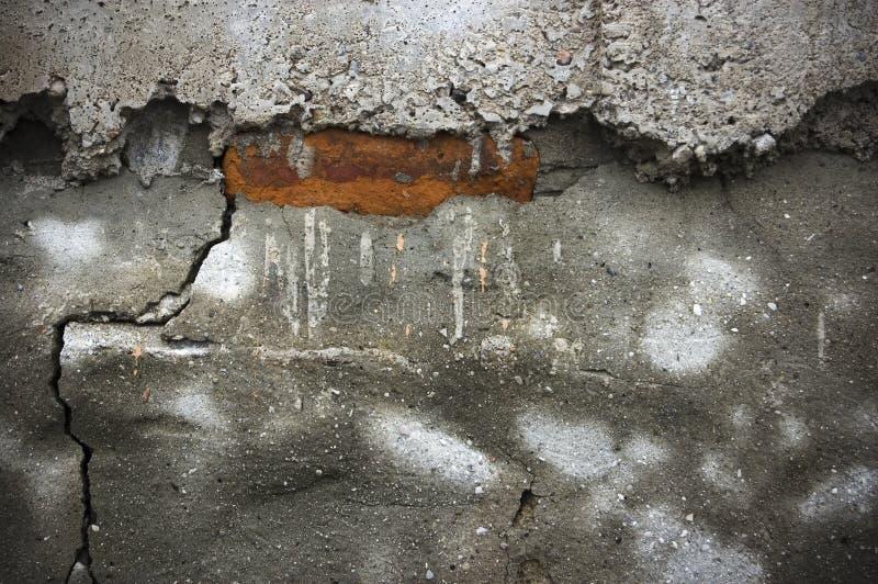 Abstracte achtergrond van afgebroken brickwall royalty-vrije illustratie